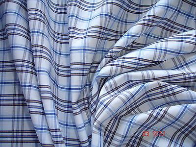 0,5 Laufmeter Baumwolle 2,93€/m² kariert blau, weiß FB92