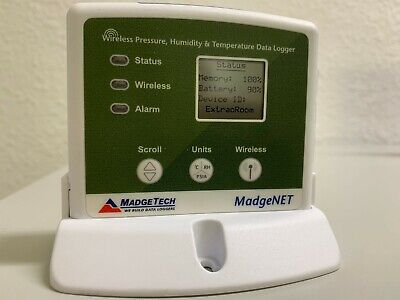 Madgetech Rfrhtemp2000a Wireless Pressuretemperaturehumidity Data Logger