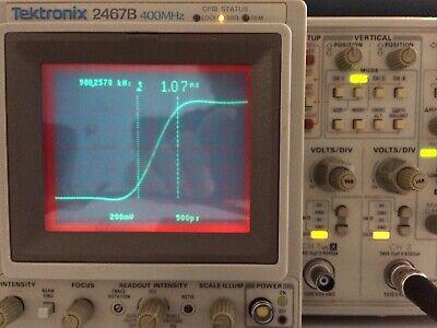 Calibrated Tektronix 2467b 400mhz Briteye Oscilloscope 6 Freq Ctr 10 Gpib