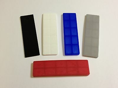 100mm x 28mm PLASTIC GLAZING WINDOW GLASS PACKERS  - 50 Assorted Shims / Pails
