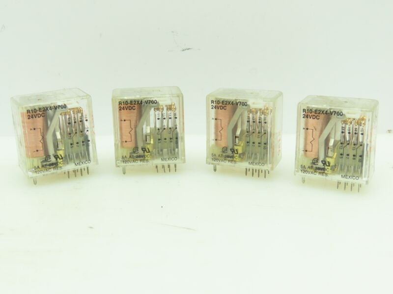 Potter & Brumfield R10-E2X4-V700 Relay  24VDC 5Amp @ 28VDC LOT of 4