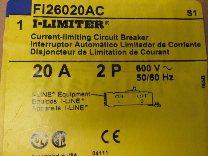 Square D I-line Fi26020ac 20a 2p (a&c Phasing) 600v 50/60hz Circuit Breaker New