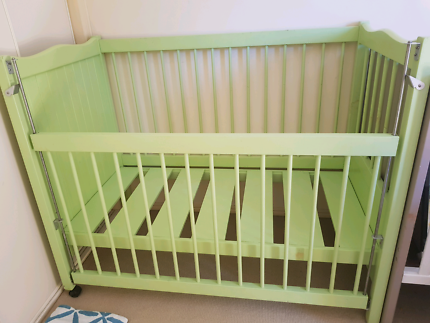 Cot - baby green cot for sale