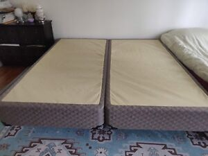 King size Therapedic mattress, box spring, and frame