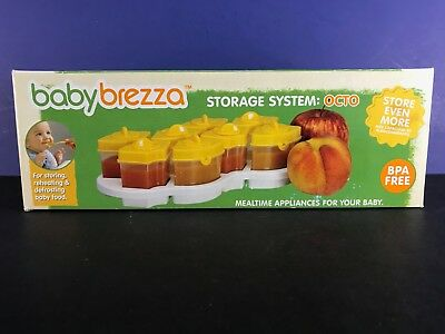 Baby Brezza Octo Baby Food Storage System, Color Yellow - NEW, Free Shipping