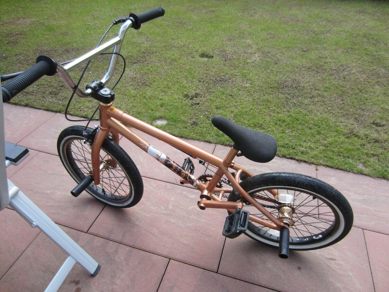 """Stereo Bikes 18"""" (ca. 45cm) Oberrohr, BMX Rad, Farbe: kupfer, 2 Pegs inklusive"""