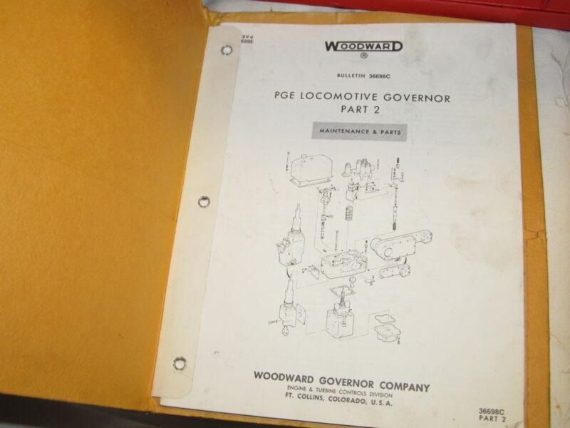 1972 Service Manual w/Schematics WOODWARD PGE Locomotive Governor Part 2 J0381