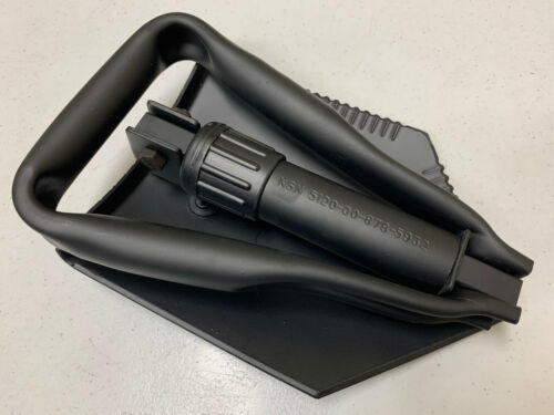 ARMY ISSUED E-TOOL ENTRENCHING TOOL LHB 10 TRI-FOLD SHOVEL 5120-00-878-5932 NEW
