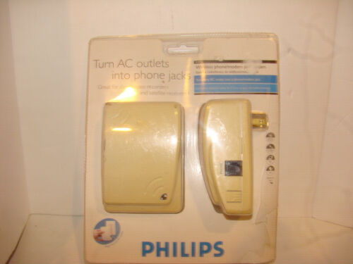 Philips Wireless Phone / Modem Jack System AC Outlet Wall Plug In PH0900 READ