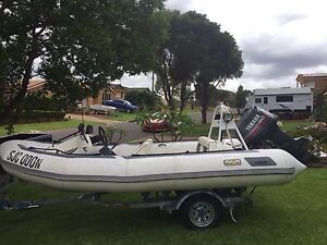 Boat 2003 Inflatable 4.4m Avon with 2003 60hp Yamaha oil injected Campbelltown Campbelltown Area Preview