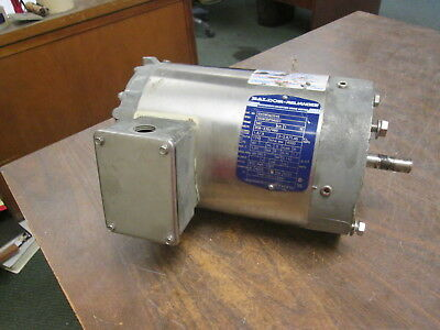 Baldor Stainless Steel Washdown Motor Idvswdm3546 1hp 1800rpm Fr56c Used
