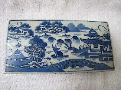 Antique Chinese Blue on White Porcelain Trinket Box