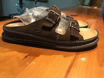 UGG - Casual Slip On/w buckles/Leather Shoes Brown Men's 10, used for sale  Denver