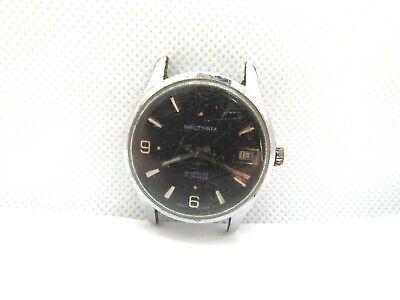 Vintage WALTHAM 17 Jewel Wind Men's Wrist Watch LT runs repair Cal 1961