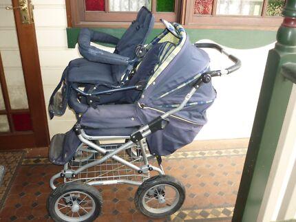 Bertini 4 Wheel Steer Pram and Toddler Seat Bankstown Bankstown Area Preview