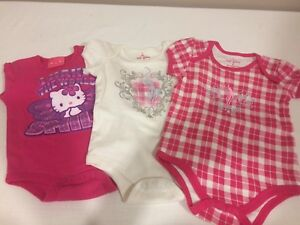 3 onesies, size 6-9 months