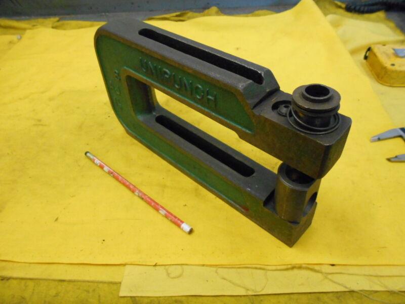 C FRAME PUNCH sheet metal hole press brake tool unit UNIPUNCH USA 8AJ 1 1/2
