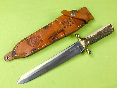 "Vintage Custom Made ""RUDY"" R.H. RUANA Model 42D Spear Point Bowie Stag Knife"