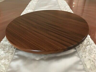 "Lazy Susan 14.5"" Solid African Sapele Wood Kitchen Weddings House Warming"
