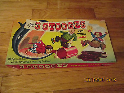 SCARCE 1950S THREE STOOGES GAME MOE LARRY CURLY