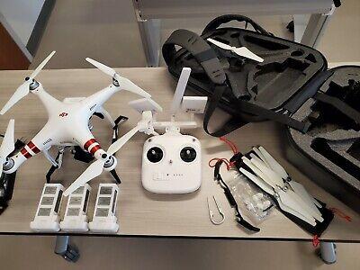 DJI Phantom 3 Measure Quadcopter Camera Drone - White with upgrades & extras