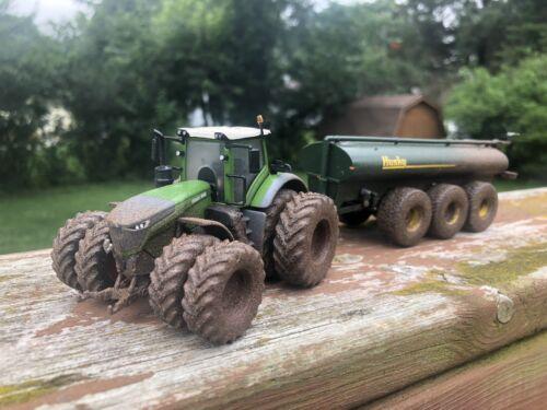 1/64 Fendt  custom muddy version with Muddy Husky Manure Tank