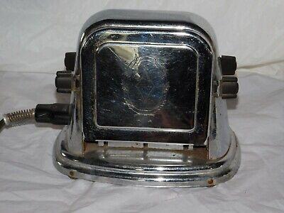 old vintage art deco era stainless steel kitchen appliance toaster 1920s 20s