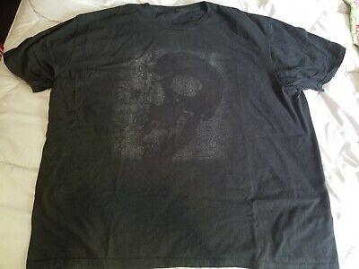 Hot Topic Mens XXL Faded Skull Black T-shirt