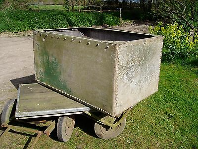 Vintage Galvanised Studded Water Tank / Planter Large