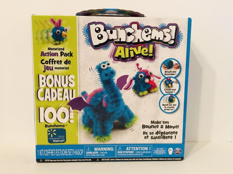 New Bunchems Alive Motorized Action Pack Craft Kit 408 Bunchems
