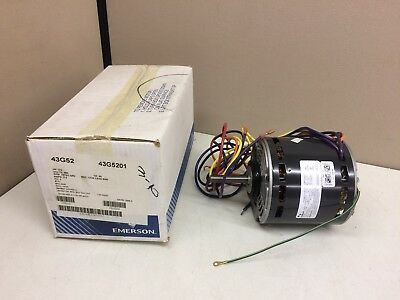 Emerson Lennox Supply Air Blower Fan Motor 43g52 34hp 460v 3-spd K55hxeka-7371