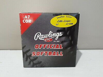 Brand New Rawlings Official Softball .47 COR Leather Cover 11