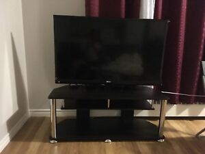 "Haier LED 46"" TV with stand"