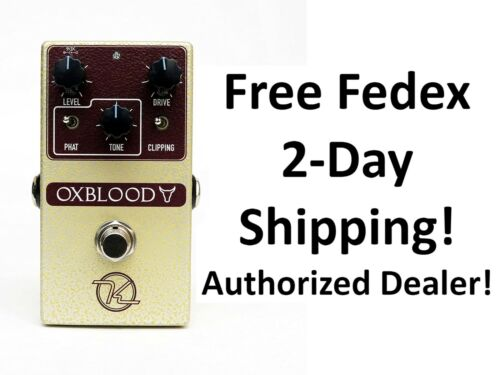 New Keeley Oxblood Overdrive Guitar Effects Pedal