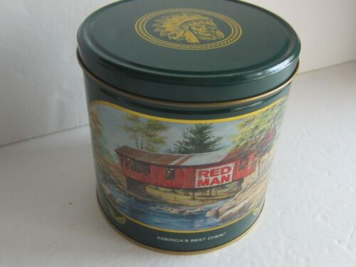 RED MAN GREEN CHEWING TOBACCO TIN 1988 Limited Edition