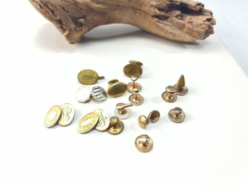 Lot of antique and vintage cufflinks some gold filled and plated