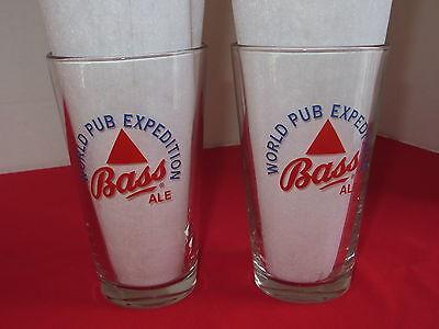 (Bass Ale  1 Pint Pub Glass  Pair (2)