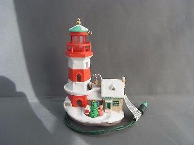 Hallmark Keepsake Ornaments Lighthouse Greetings 1997  1 Santa Mrs Claus