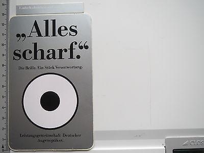 Aufkleber Sticker Die Brille - Deutsche Augenoptiker - Alles scharf (6607)