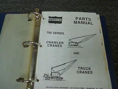 American 700 Series 7150 7260 7450 7460 7510 7530 Crane Parts Catalog Manual