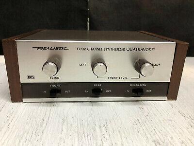 Retro Vintage Realistic Quatravox Four Channel Synthesizer Japan by Radio Shack