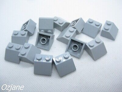 LEGO PART 3039 LIGHT BLUISH GREY SLOPE 45 2 X 2 FOR 12 PIECES