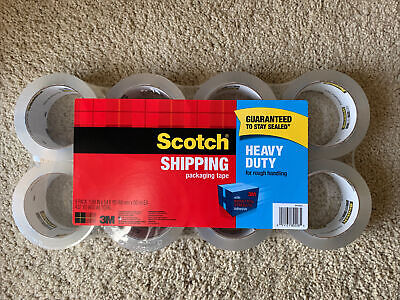 Scotch Heavy Duty Packing Tape 8 Pack 1.88 X 54.6 Yd
