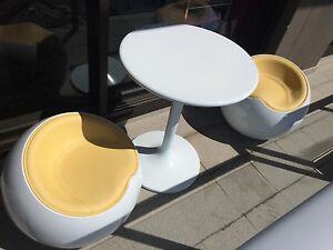 Designer Cushioned Spherical Ball Stools and table Newcastle Newcastle Area Preview