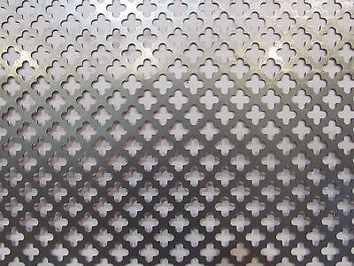 Decorative Cloverleaf Pattern Perforated Steel 11-12 X 23-12