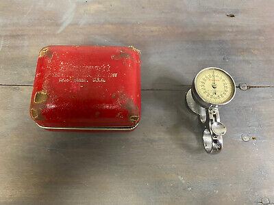 Vintage Starrette Dial Sheet Gauge No. 170 With Original Case