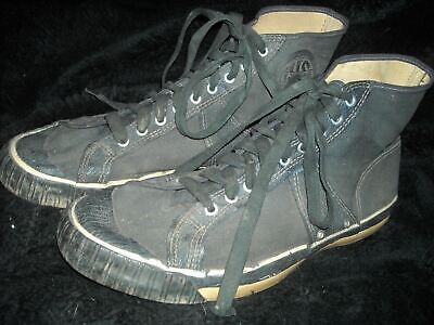 VTG 40S 50S MENS 10 PRO KEDS LACED BASKETBALL BLACK  CANVAS SNEAKER SHOES USA](50s Shoes Mens)