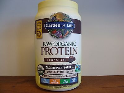 Garden Of Life Raw Protein Chocolate 23.4 oz Vegan Gluten Free Protein