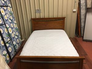Double bed with pillow top mattress delivery available