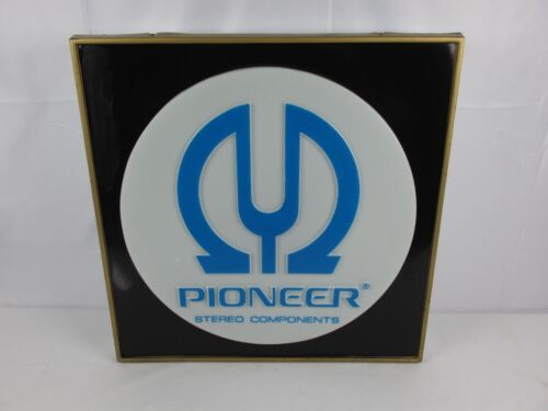 Vintage PIONEER STEREO Store Dealer Advertising Sign Lighted RARE Stereo Find